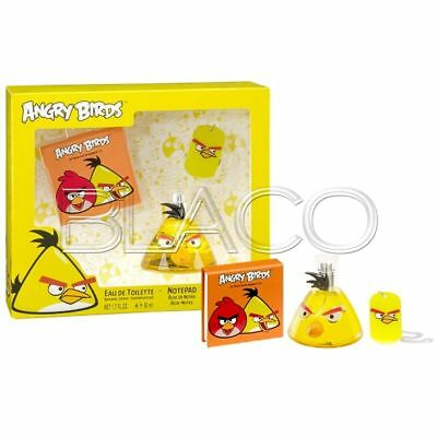 Angry Birds Coffret Giallo Profumo Notepad E Portachiavi - 50Ml Bambini Cartoon