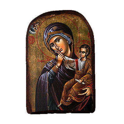 Icon of Holy Mary Theotokos, Greek Russian Christian Orthodox, Made of Wood MP2