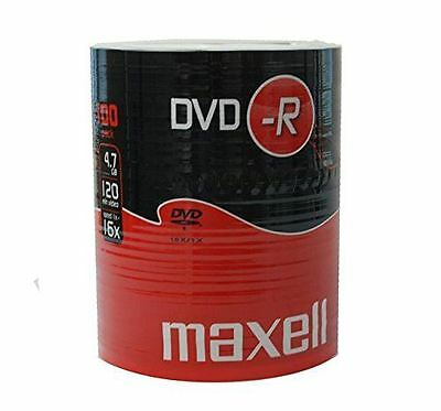 Maxell DVD-R 120 Minutes 4.7GB 52X Speed Recordable Blank Discs - 100 Pack