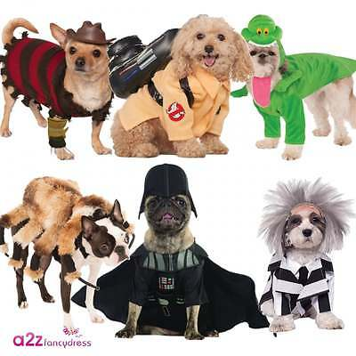 Pet Dog Halloween Fancy Dress Costume Ghostbusters Freddy Krueger Darth Vader
