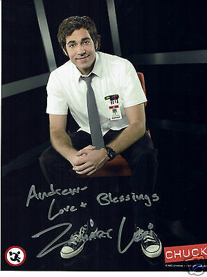 Zachary Levi American Actor Chuck Hand Signed  Photograph 10 x 8