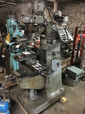 "Bridgeport M Head Milling Machine.  32"" Table Works Well."