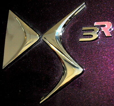 Citroen DS3 R Racing Badge Red New + Genuine (just the 'R') 8666GX