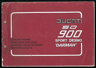 ORIGINAL Catalogue de pièces DUCATI 900 SD DARMAH 1977 / 79 - Parts List Katalog