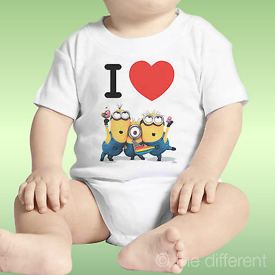 Body Neonato Unisex I Love Minions Cattibissimo Be Idea Regalo