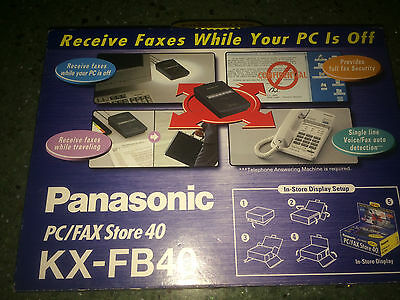 Panasonic PC/FAX Store 40 KX-FB40 - Receive faxes while your PC is off!