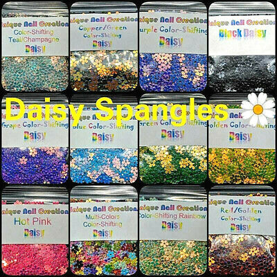 DAISY Shape Spangle~U CHOOSE~Nail•Acrylic•Gel•Body Art•Face•Festival•Crafts