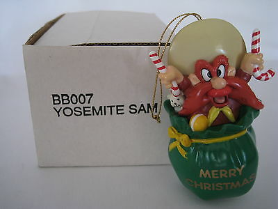 1990 Warner Brother Looney Tunes Holiday Ornament Yosemite Sam Bb007