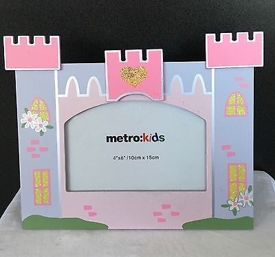*new* Girls Princess Castle Photo Frame - 6 X 4 - Pink - Pretty - Nursery