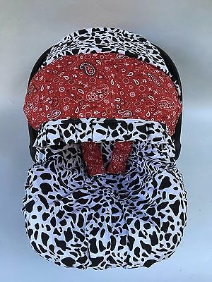 baby car seat cover canopy cover fit Most infant car seat cow print