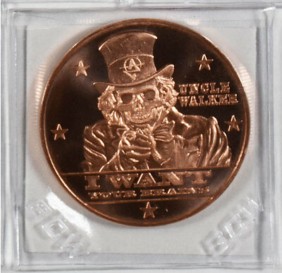 Apocalypze Zombie Series | Uncle Walker | 1 oz .999 Copper Round Coin