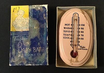 Vintage Taylor Baby's Bath Thermometer With Box