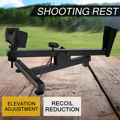 Shooting Rest Benchrest Hunting Gun Rifle Shoot Bench Steel Steady Padded Stand