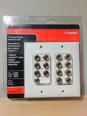 On-Q - Legrand 7.1 OR 5.1 Home Theater Connection KIT WP9009-WH-V1 WHITE