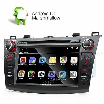 """US 8"""" Android 6.0 Car DVD Player Stereo GPS Radio for Mazda 3 10-13 Bluetooth A"""