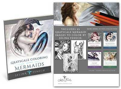 Selina Fenech Mermaids Grayscale Colouring Book