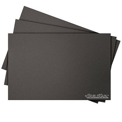 BuildTak 3D Printing Build Surface, 8x8-Inch Square, Black (Pack of 3) CXX