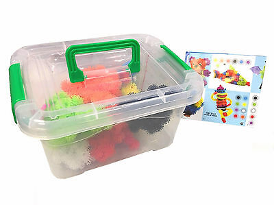 Thorn Ball Clusters Bunchems 480 Pieces Children Kids Toy Gift Storage Tub