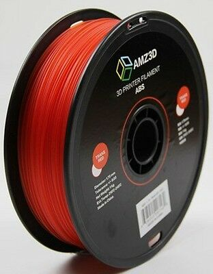 AMZ3D 1.75mm Trans Red ABS 3D Printer Filament - 1kg ABS-1.75-Trans Red-1kg CXX