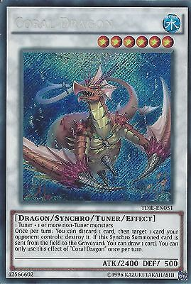 Yu-Gi-Oh Card: Coral Dragon - Secret Rare - Tdil-En051