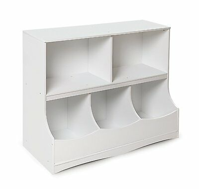 Badger Basket 98856 Multi-Bin Storage Cubby - White NEW