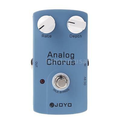 JOYO JF-37 ANALOG CHORUS Electric Guitar Effect Pedal True Bypass Blue J5P2