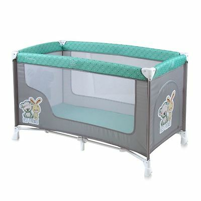 Baby Nanny Travel Cot Bed Play Pen Yard Child Infant Boy Girl Kid Nursery GREEN