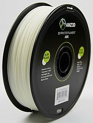AMZ3D 1.75mm Glow in Dark ABS 3D Printer Filament - 1kg Spool (2.2 lbs) CXX