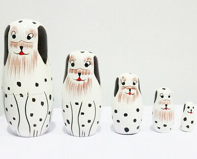 New 5pcs/set Matryoshka Russian Nesting Soldier Dolls Babushka Wooden Toys Gift
