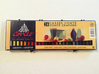 24 Conte Crayons - Assorted Colours