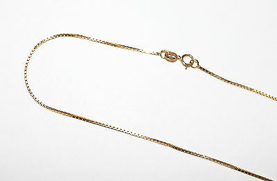 10K Yellow Gold Box Link Chain 2 grams 20 inches - New