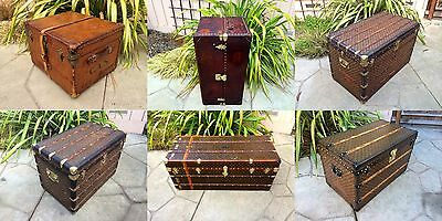 LOT of 4 LOUIS VUITTON Antique Monogram Steamer Trunks suitcase purse bag rare