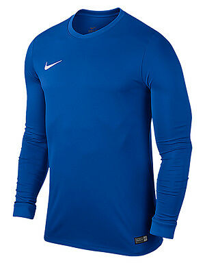 Nike Park VI Football Team Shirt / Blue Long Sleeved Adults Youth / Kids Shirts