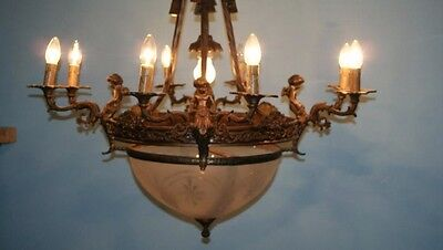 A Beautifully Decorated Antique French Chandlier - French Louis Xvi