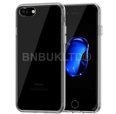 Transparent Clear Silicone Ultra Slim Gel Case and Screen Protector for IPHONE 7