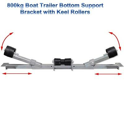800kg Boat Dinghy Bottom Support Trailer Loading Rollers Skids Slides Bracket