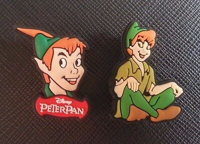 2 x Disney's Peterpan Croc Shoe Charms Crocs Jibbitz Peter Pan Tinkerbell