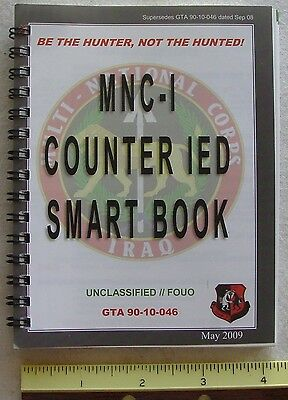 NEW MNC-1 Counter IED smart book  USMC Afganistan Iraq Explosive Booby Trap ID
