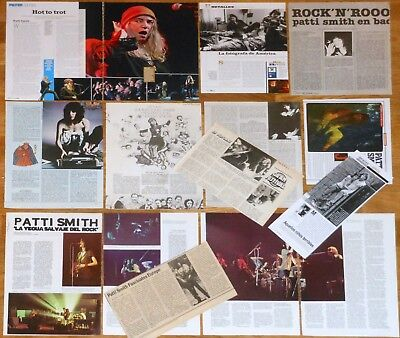 PATTI SMITH spanish & UK clippings 1970s/00s photos magazine articles cuttings