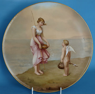 Wonderful And Very Rare Royal Vienna Plate  - Cupid On Travel - 14""