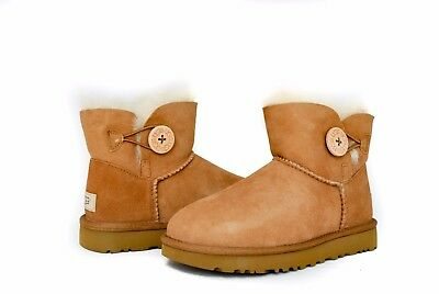 UGG Women's Mini Bailey Button 2 II 1016422 in Black or Chestnut NEW Model