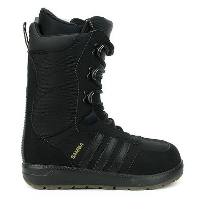 Adidas Men's Originals Samba Black/Black/Black Snowboard Boots S85658 NEW!