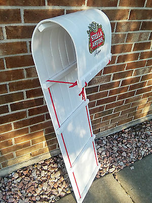 Stella Artois/Budweiser Real Wooden Snow Toboggan Sled Beer Sign..B/New