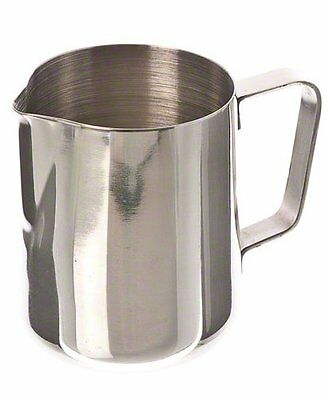 Espresso Milk Frothing Pitcher 12 Oz Stainless Steel Steam Latte Shipping Free