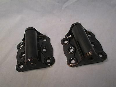 Pair of Spring Loaded Screen Door Hinges - Black /    SE 20
