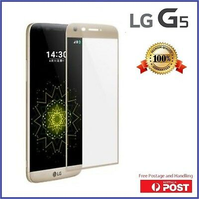 NEW LG G5 Full Coverage 3D Curved Tempered Glass 9H Screen Protector Guard H860