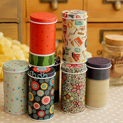 Catoon Cylinder Small Iron Roll Memo Note Paper Tea Storage Box Serviceable Hot
