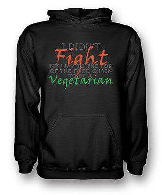 I Didnäó»t Fight My Way To The Top Of Food Chain To Be A Vegatarian - Kids Hoodi