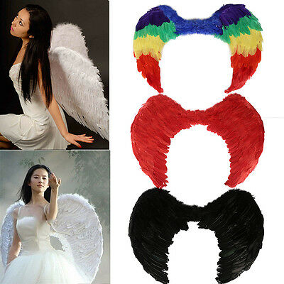 Angel Fairy Wings Fancy Dress Costume Halloween Hen Night Party Feathers Outfit