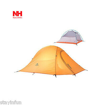 Travel Outdoor Lightweight Camping Tent Double Layer Soft Silicone Rain-proof